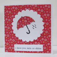 Rain or Shine Umbrella Card