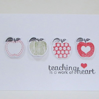 Thank You Teacher Card - Pack of 5