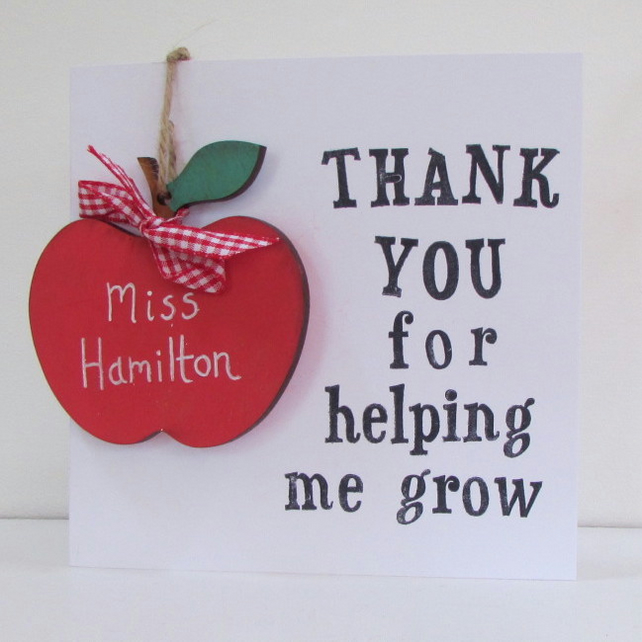 Teachers Thank You Keepsake Card