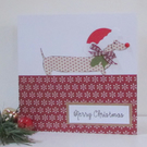 Christmas Dachshund Dog Card - Pack of 4
