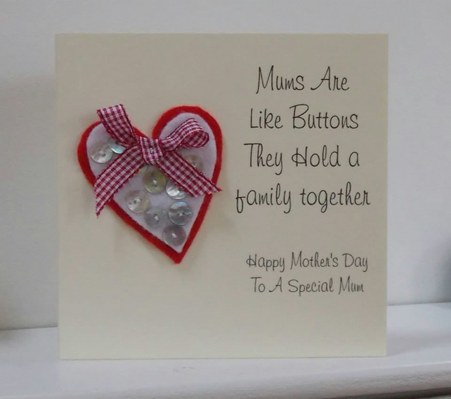 Mother's Are Like Buttons Card
