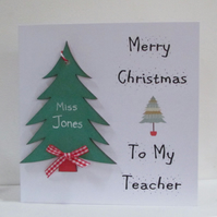 Personalised Card for Teachers