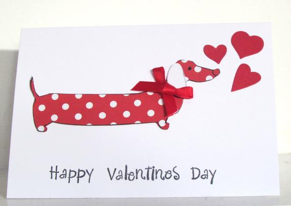 Valentine's Day Dachshund Dog Card