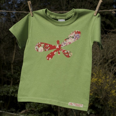 Butterfly applique T shirt