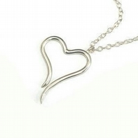Sterling Silver Heart Necklace (Small)