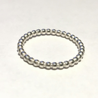Beaded Ball Ring (size O)