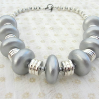 Tribal style necklace in silver