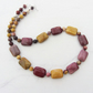 Mookaite necklace in shades of pink and mustard