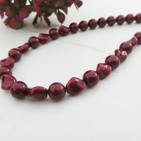 Swarovski Bordeaux twisted pearl necklace