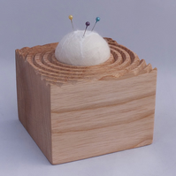 Wood and Felt Ball Pincushion