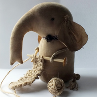 Primitive Knitting Elephant