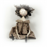 Doll (with paper clay face).