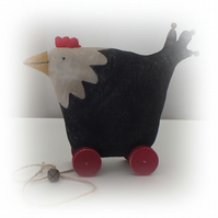 Primitive Hen on Wheels