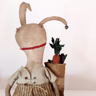Very Primitive Dressed Rabbit with Carrots