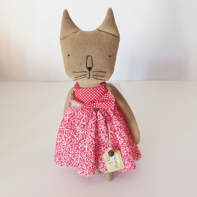 Sweetie  a Primitive Cat Rag Doll