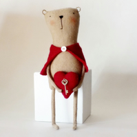 Valentine Bear with the Key to your Heart