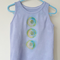 hand dyed and painted vest age 2-3 years