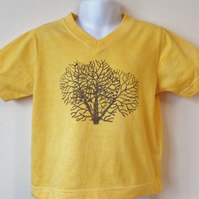 hand dyed t-shirt age 3 years