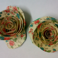 mini paper flower magnets