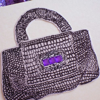 Sale : handbag- ink drawing card