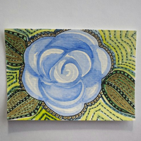 Aceo- blue rose