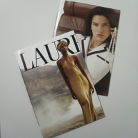 Reserved for Lauren- mag cover notebook- set of 2