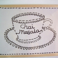 chai masala - greeting card