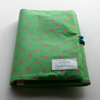 RESERVED FOR JEMMA: Children's travel art case - Polka dot green (incl crayons & pad)