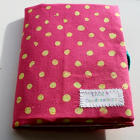 RESERVED FOR JEMMA: Children's travel art case - Polka dot pink (incl crayons & pad)