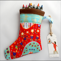 Mini Christmas Stocking - great for filling with sweets!