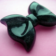 BROOCH Big Black Bow