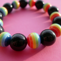 Dark Rainbow stretch bracelet