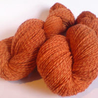 Firebrand. Tweed Merino Sock Yarn. Toasty