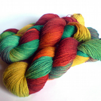 Winter Solstice. Spring Tide Sock Yarn.