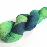 Spring Tide. BFL 4 Ply Sock Yarn. Calm Seas