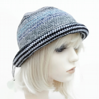Teen Crusher Black and Silver Hat