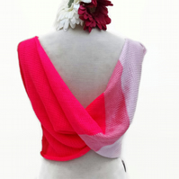 Neon Pink and Pastel Pink Flipside Top Cover Size 10