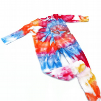 Tie Dye Sleep Suit 9-12 Months Rainbow Spiral