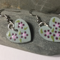 Purple Daisy Earrings - Daisy Earrings - Hand Painted Earrings