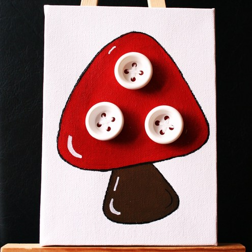 Toadstool canvas