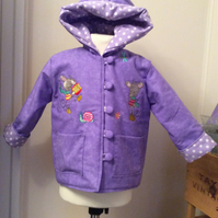 Reversible squeaky mouse jacket 12-18 months