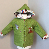 Reversible forest friends jacket 12-18 months