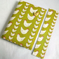 A6 notebook with removeable fabric cover and matching bookmark - chickens