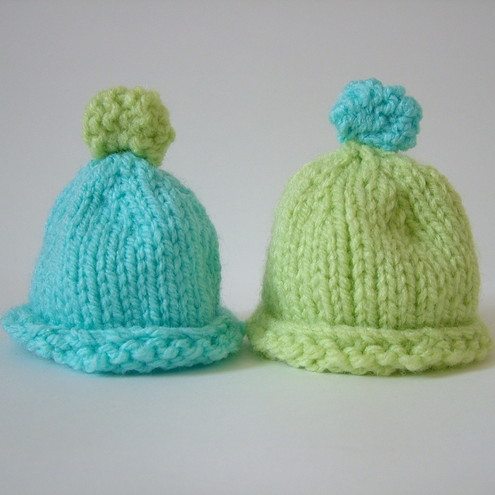 2 Blue and Green Egg Cosies