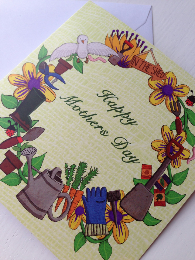 Gardening Mothers day card