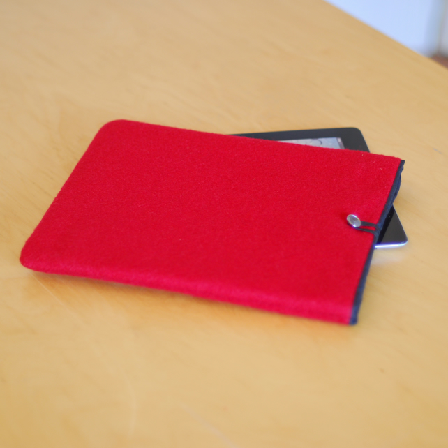 iPad Sleeve in Red Wool