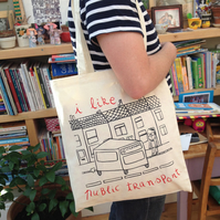 I like public transport tote bag
