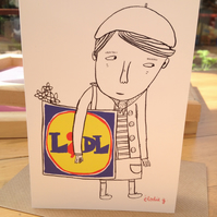 LIDL girl -greeting card