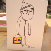 LIDL man -greeting card