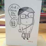 Iron on? -greeting card